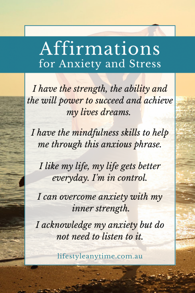 Affirmations for anxiety and stress