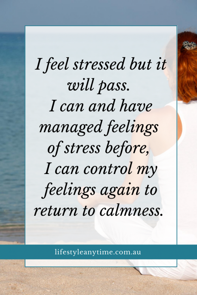 I feel stressed but it will pass.