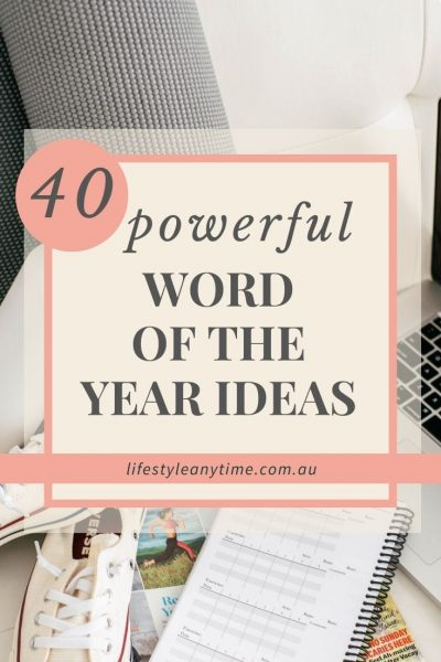 word of the year ideas