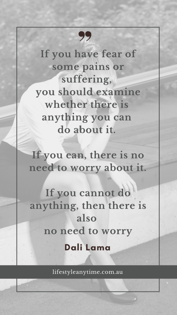 Dali Lama Quote on Worry