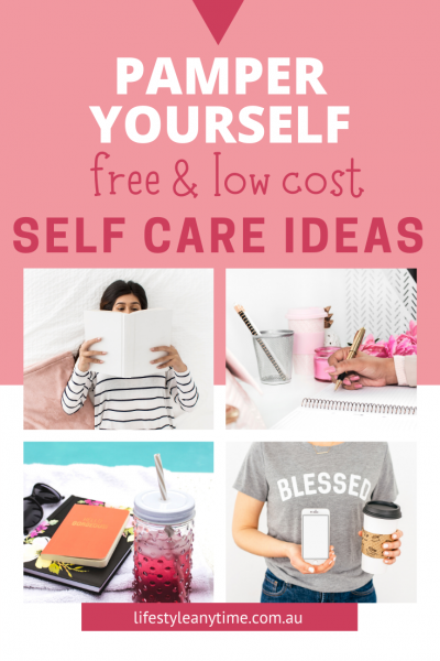 Reading, journaling, relaxing are all self care ideas