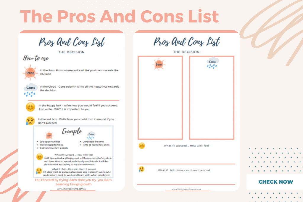 Pros and Cons List Example